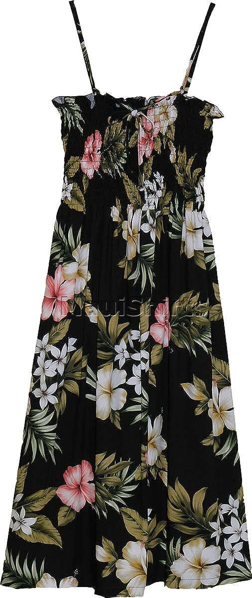 RJC Womens XS - XL Hibiscus Stephanotis Elastic Tube Top Sundress
