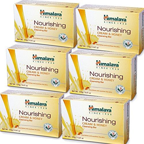 Himalaya Cleansing Bar Soaps Variety Pack, Neem & Turmeric, Almond, Cream & Honey and Cucumber, 4.41Oz/125g (12 Pack)
