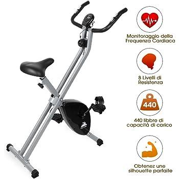 EVOLAND Bicicleta Estática Plegable, Bicicleta Estática de Fitness ...