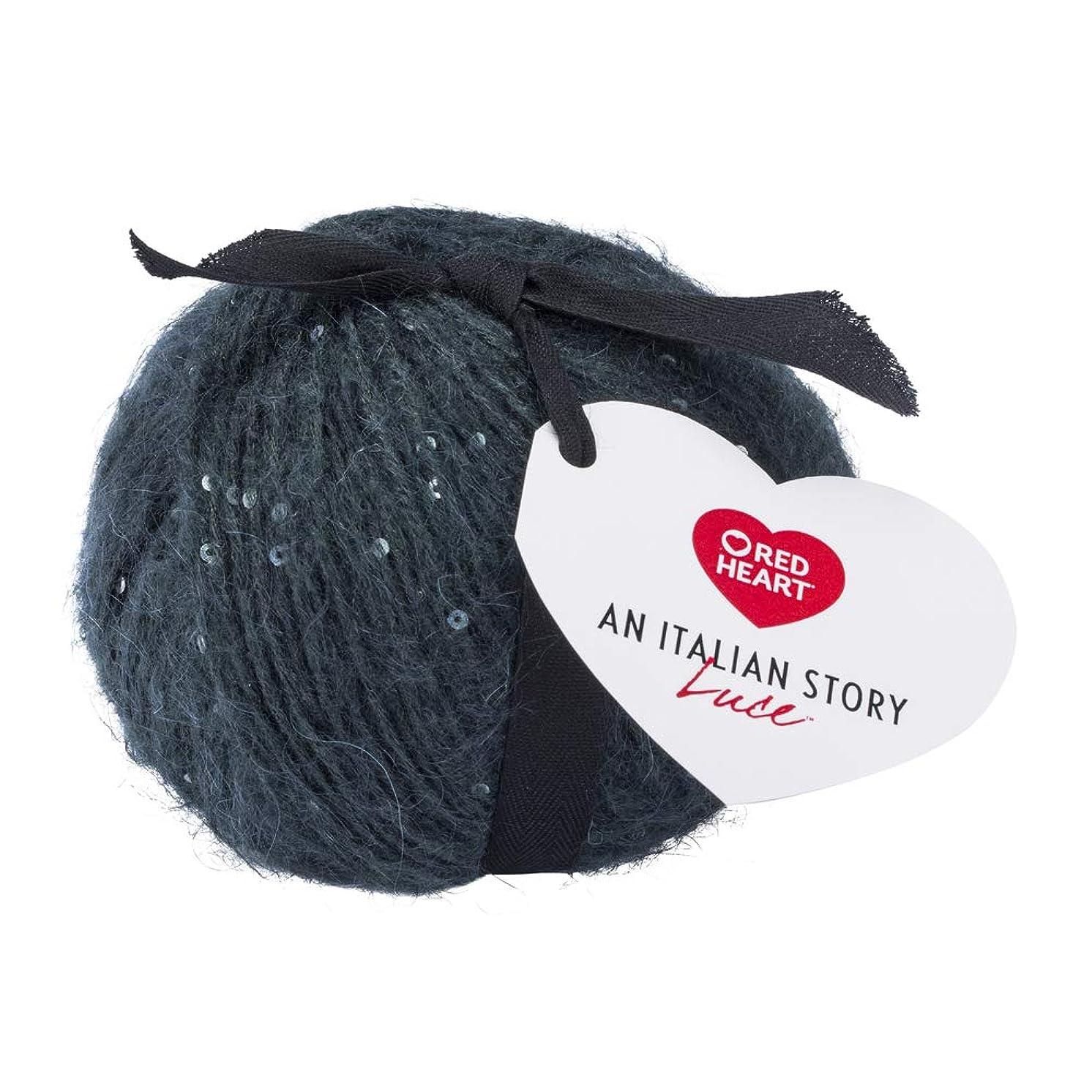 Red Heart R180.6333 Italian Story Luce Mohair Blend Yarn, Verde