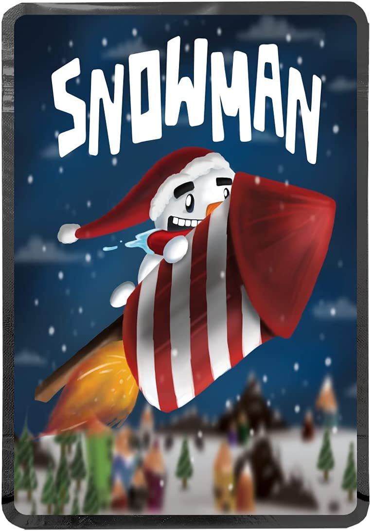 Max 72% OFF Snowman 7g 2021 HeatSeal Smellproof Mylar Resealable Bags Stand-up Zi