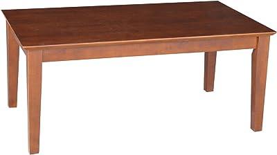 hardwood coffee table beautiful international concepts coffee table espresso amazoncom porter mid century modern table brown kitchen