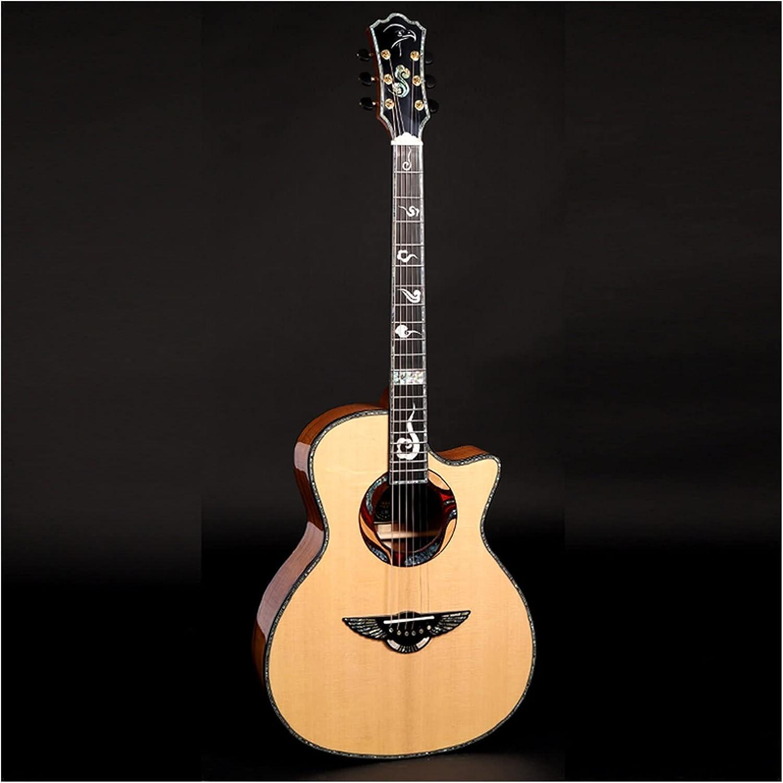 YYYSHOPP Guitarra 41 Pulgadas C70 / C71 Guitarra acústica, Abeto sólido, diapasón de ébano, encuadernación e inlaybeginner Music Lover Guitarra (Color : C70, Size : 41 Inches)