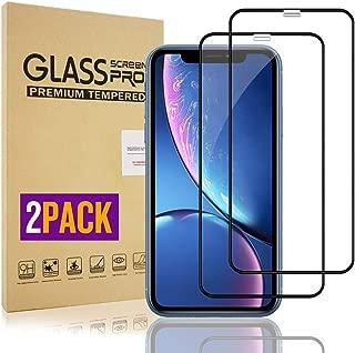 【2枚セット】iPhone 11 / iPhone XR ガラスフイルム iPhone XR 強化ガラス【日本製素材旭硝子製】 9Dラウンドエッジ加工/業界最高硬度9H/高透過率/3D Touch対応/自動吸着/気泡ゼロ アイフォンXR ガラスフィルム アイフォンXR 全面保護 iPhone 10強化ガラス液晶保護フイルム 全面フイルムカバー 6.1インチ対応 ブラック