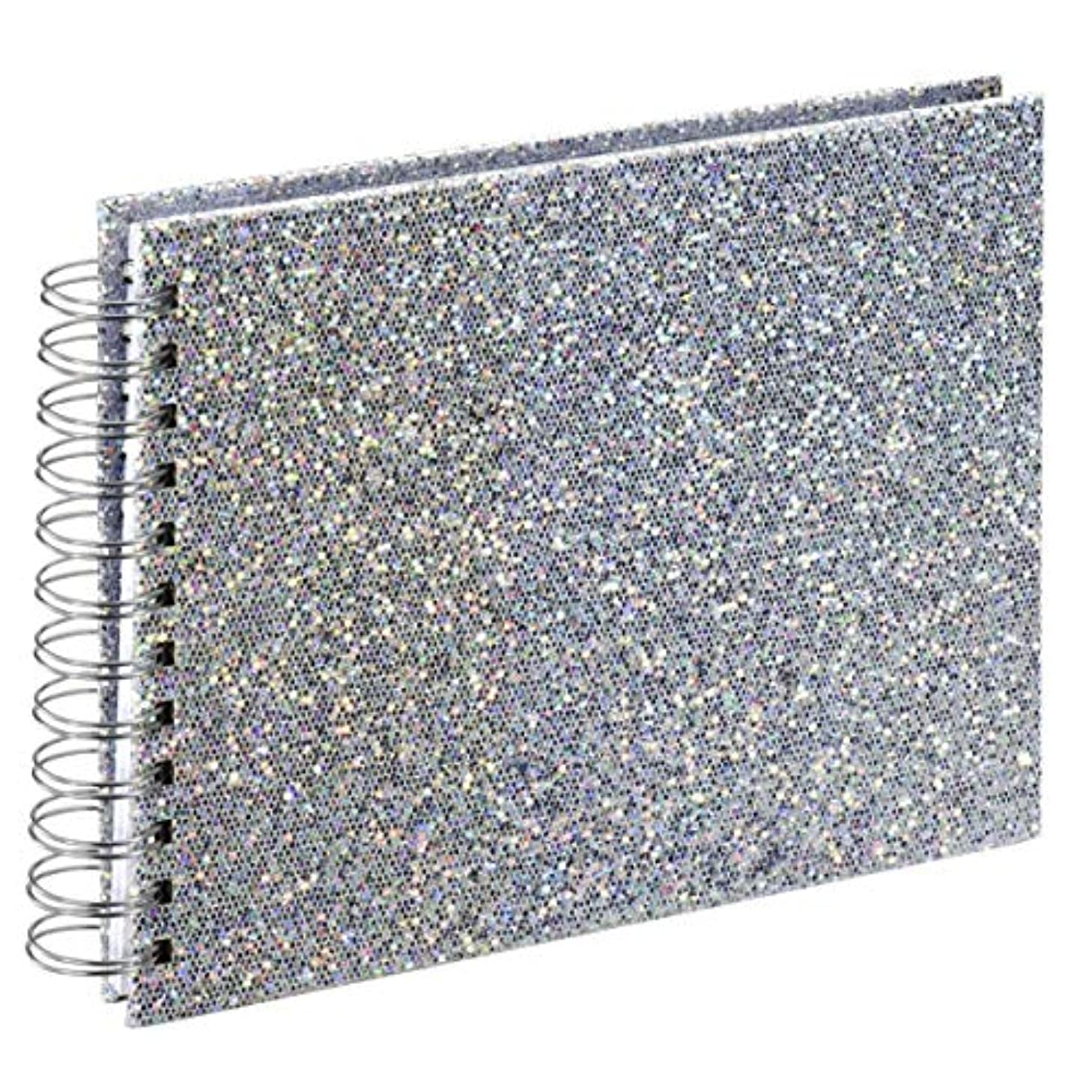 Glam Spiral Album 24 x 17 cm 50 Pages White Silver