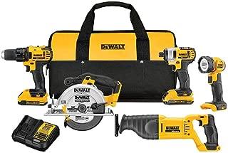 DEWALT 20V MAX Cordless Drill Combo Kit, 5-Tool (DCK520D2)