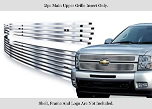 APS 304 Stainless Steel Billet Grille Fits 2007-2013 Chevy Silverado 1500 Chrome Polished #C65766S