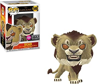 Funko Pop! Disney The Lion King Scar Flocked Exclusive #548 (Bundled with Compatible Pop Box Protector Case)