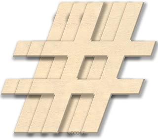 4-in Wooden Shape 1/8