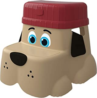 Squatty Potty Kids Step Stool with Locking Riser for Additional Height - Pup Dog Style