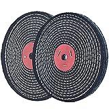 Rueda de pulido en espiral Denim de 8 pulgadas para lijadora de mesa con orificio de 5/8', grosor de 1/2', 2 unidades