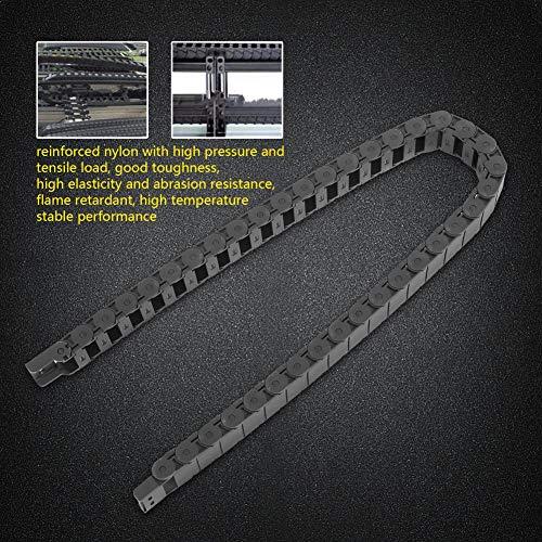 Cadena de máquina Cadena de nailon reforzada Cadena de arrastre de nailon negro Cadena de energía de arrastre para máquina para pequeños hidráulicos