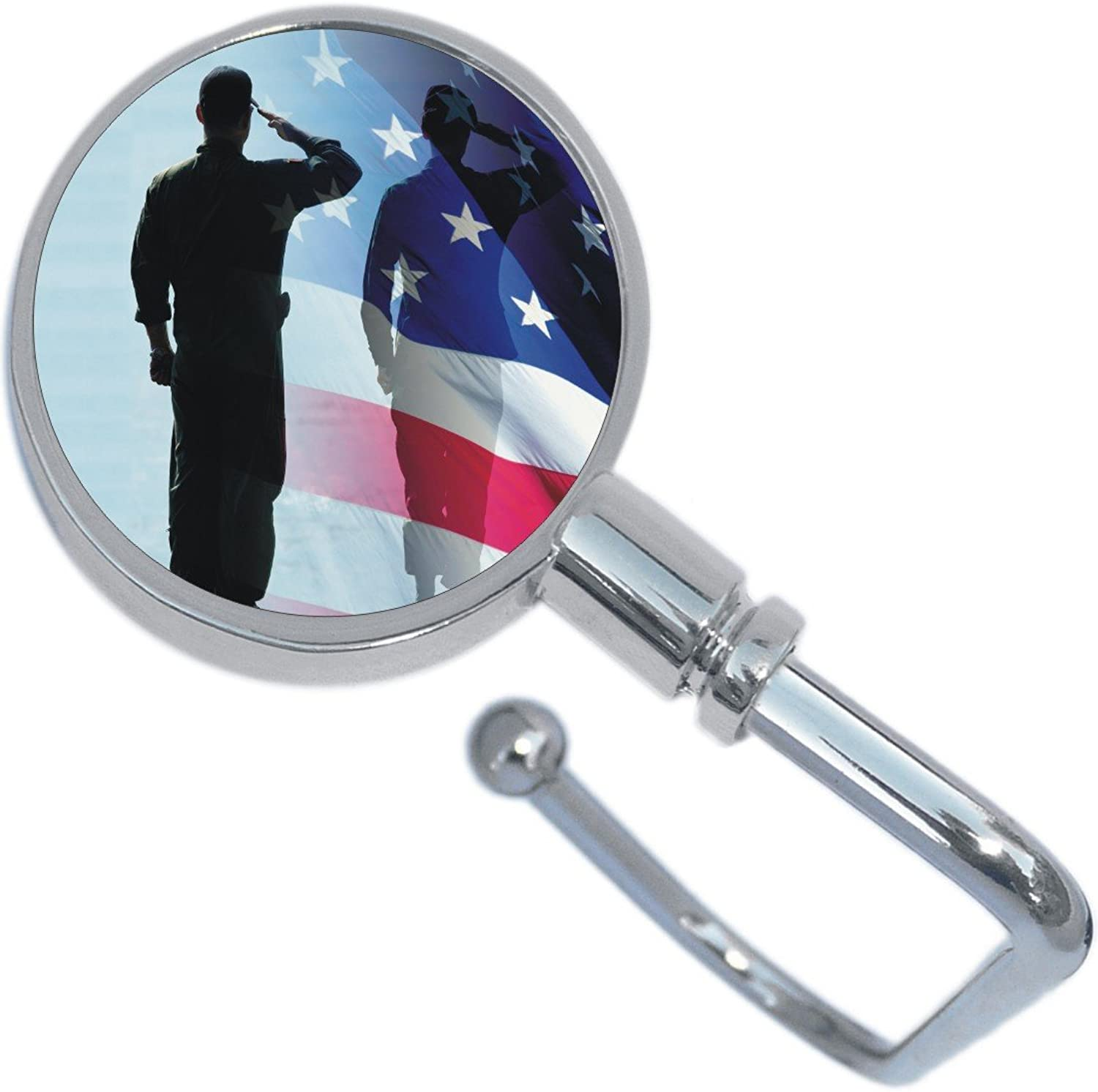 American Flag Salute Soldier Purse Hanger