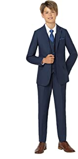 Paisley of London, Ezra Boys Premium mesh Blue Suit, Slim-Cut Prom Suit Set, X-Large - 20