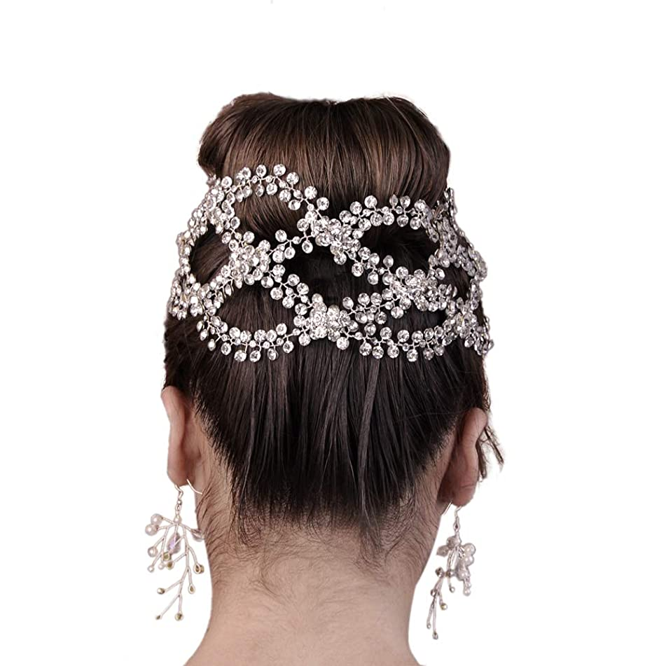Top Queen Women's Crystal Diamond Bridal Belt Sashes Wedding Belts Sash for Wedding