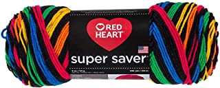 Coats YarnRed Heart Super Saver Yarn-Primary Stripes, Other, Multicoloured