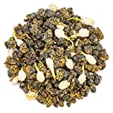 Oriarm 100g / 3.53oz Taiwan Oolong Green Tea with Jasmine Flowers - Jasmine Oolong Tea Loose Leaf - Alishan High Mountain Tea Wulong Jasmine Flavored - Pleasant Aroma Naturally Processed