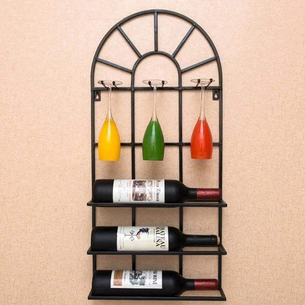 Wine Glass Courier shipping free Max 46% OFF Rack Shelf Champagn Holder