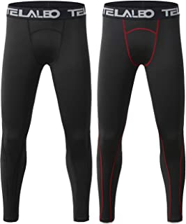 Boys Compression Leggings Thermal Fleece Base Layer Tights Cold Gear Pants