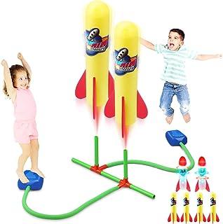 موشک انداز دوکورا Duckura Dueling برای کودکان ، تا 100 پا ، 4 فوم و 2 موشک LED ، فعالیت های بازی در فضای باز اسباب بازی ها ، هدایای تولد کریسمس برای دختران دختران کودک نو پا 3 4 5 6 سال