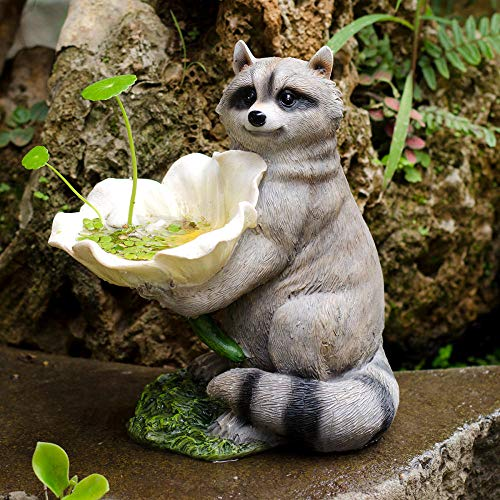 Outdoor Garden Raccoon Ornament Garden decorations courtyard decoration simulation raccoon bird feeder animal yard garden landscape layout outdoor decoration Animals Statues and Sculptures