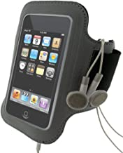 iGadgitz Black & Silver Reflective Neoprene Sports Gym Jogging Armband for Apple iPod Touch 2nd 2G & 3rd Generation 3G 8gb, 16gb, 32gb & 64gb