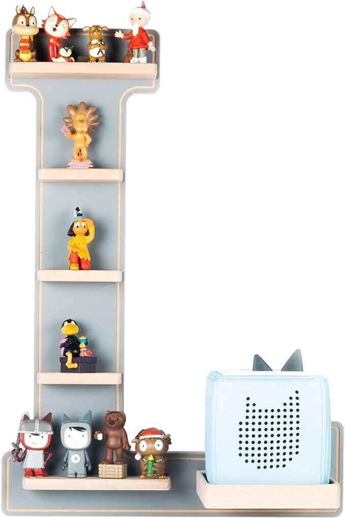Buchstaben N Tonieregal Musikbox Tonie Regal in 8 Farben mit Schriftzug Name