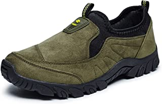 Men's Comfortable Athletic Shoes Flat Heel Slip On Solid Colour Cursory Fashion Sneaker casual shoes (Color : Green, Size : 43 EU)