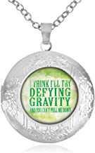 Women's Custom Locket Closure Pendant Necklace Wicked The Musical Defying Gravity Included Free Chain, Best Gift Set