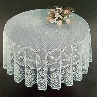 Fine White Lace Tablecloth in 90