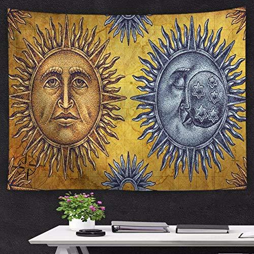 LLLYZZ Boheemse zondessin wandtapijt, decoratie, strandhanddoek, picknickkussen, yogamat, beste decoratie voor thuis en woonkamer 130 cm x 150 cm.