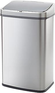 WY LIVING S 自動センサー式ゴミ箱 50リットル ステンレス製 ふた付き 電池式 WY-HM007