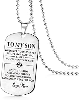 mom to son dog tags