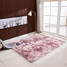 Mainstayae Ultra Soft Tie-Dye Style Gradient Color Carpet Floor Bedroom Mat Rectangle Shape Fluffy Rug for Living Room Bed...