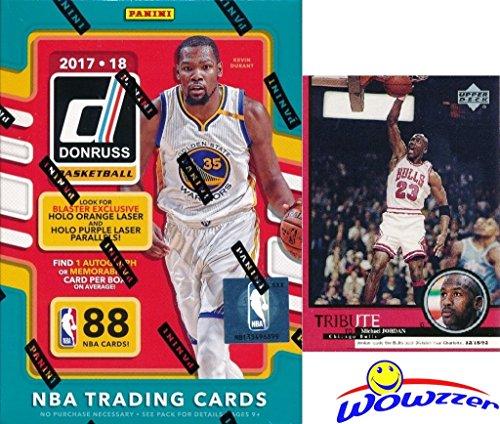 2017/18 Panini Donruss NBA Basketball EXCLUSIVE Factory Sealed Retail Box with AUTOGRAPH or MEMORABILIA Card! Plus BONUS VINTAGE Michael Jordan Bulls Card! Look for Jayson Tatum, Lonzo Ball & More!