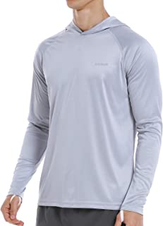 Mens UPF 50+ UV Protection Hoodie Shirts Long Sleeve Sun Fishing Shirts for Men