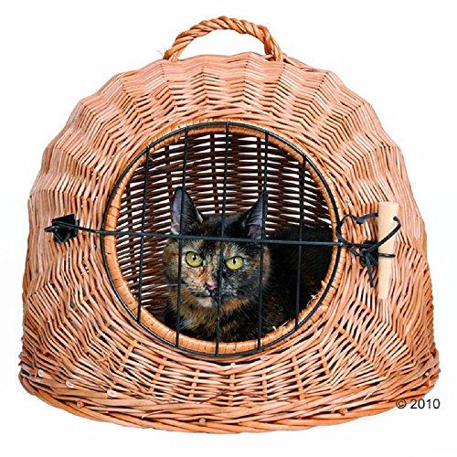 Panier en osier pour chat en maille filet Poignée de porte et de voyage Transport Cave Lave-vaisselle Snuggle Coque arrière rigide