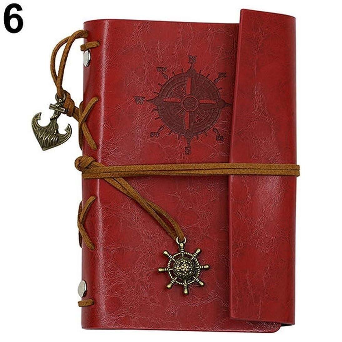 終わったお母さん幽霊レトロフィルノートプレミアムPUレザークラシックエンボスペンダント、旅行日記、カジュアルノートブック、旅行日記 (Color : D)