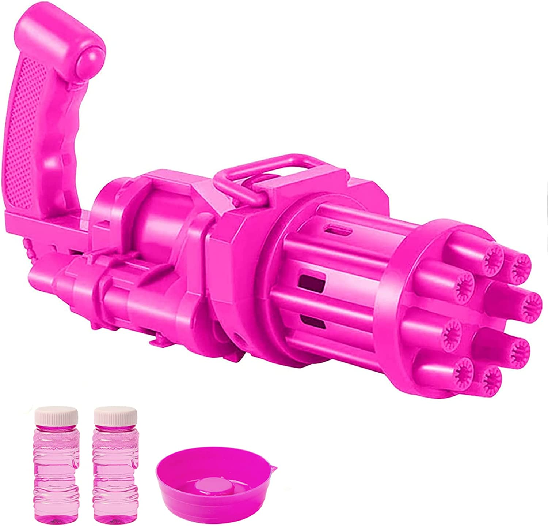 X-CHENG Bubble Machine Gatling Bubble Toys - 8-Hole Automatic Bu