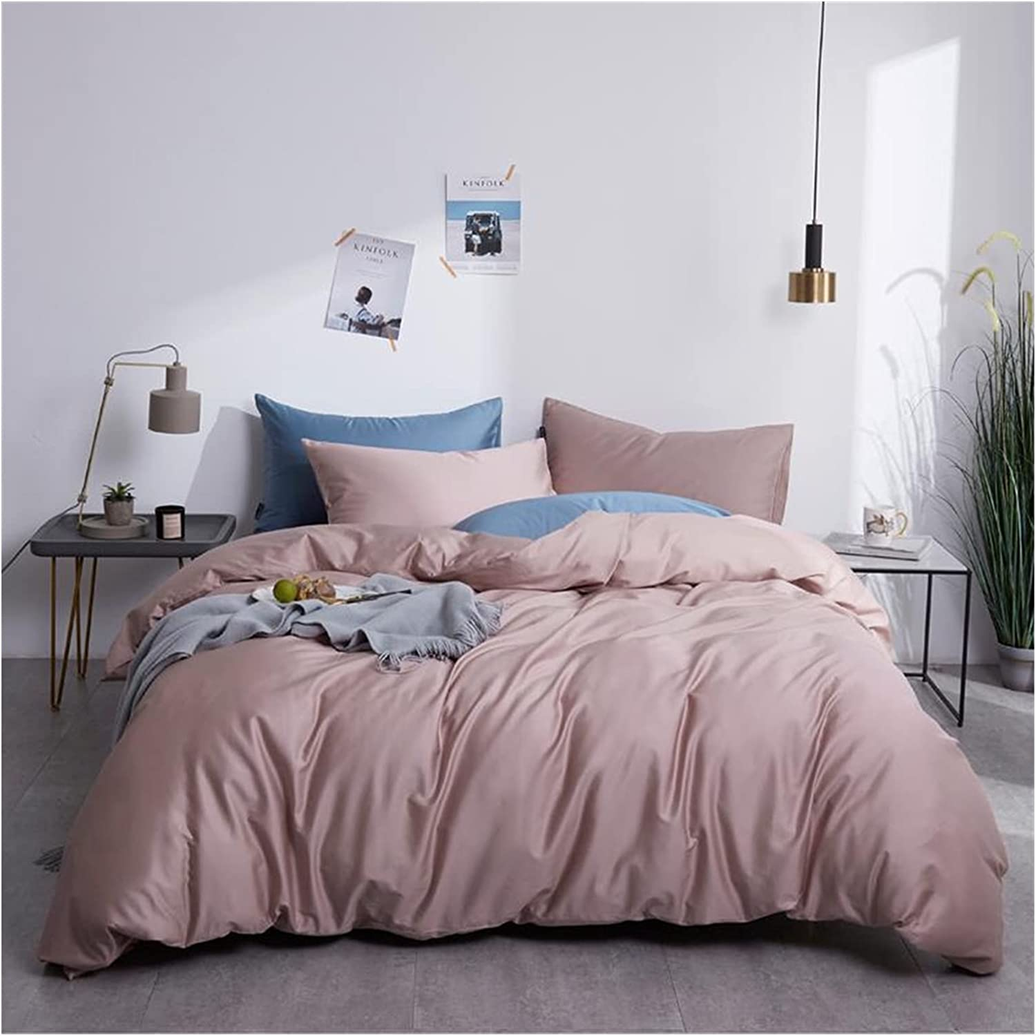 Ranking TOP19 GT.S Silky Soft Pure Egyptian Cotton Solid Set Color Department store Bedding Fam