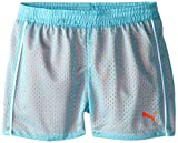 PUMA Big Girls' Active Double Mesh Short, Faster Blue, 8-10 (Medium)