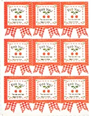 "LSW Set of 45 Cherry ""For You"" Stickers"
