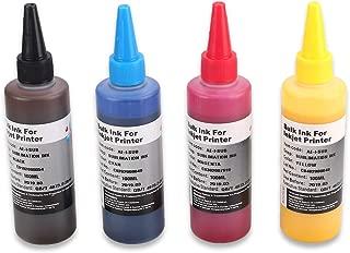 HEMEI Tinta de sublimación de 4 botellas para impresoras de 4 colores Epson / Ricoh, transferencia de prensa de calor en tazas Placas / camisas de poliéster / cajas de teléfonos / manualidades, etc.
