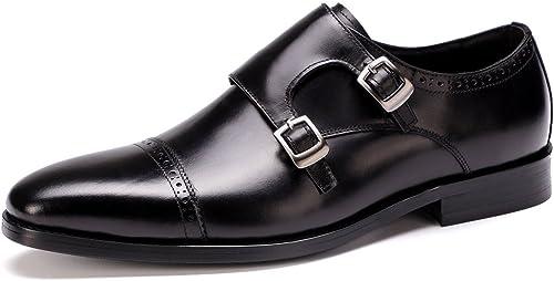 Lxmhz Pour des hommes Robe Chaussures en Cuir Oxford Chaussures pour Hommes Geniune Moderne Formelle Chaussures d'affaires