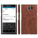 HualuBro BlackBerry Priv Hülle, [Ultra Slim] Premium Leichtes PU Leder Leather Handy Tasche Schutzhülle Hülle Cover für BlackBerry Priv Smartphone (Braun)