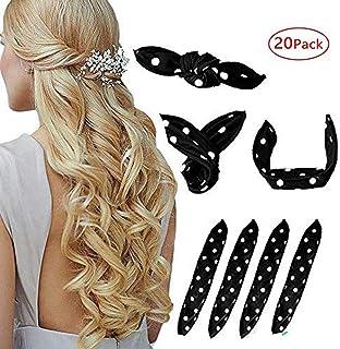 Foam Hair Curlers, Pillow Cloth Hair Rollers,No Heat Sleeping Soft Sponge Rollers for Long, Short, Thick & Thin Hair Spiral Curls Hair Headband (black)