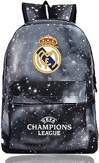 UEFA Real Madrid Backpack-AC Milan Bookbag-Real Betis School Rucksack-Barcelona Outdoor Laptop Backpacks