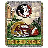 NORTHWEST NCAA Florida State Seminoles Woven Tapestry Throw Blanket, 48' x 60', Home Field Advantage