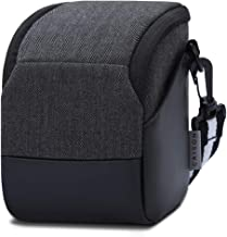 CAISON Shock Resistant Bridge Camera Case with Adjustable Shoulder Strap and Side Pockets – Mirrorless Small Camera Bag for Canon, Nikon, Panasonic, Fujifilm, Sony Digital Cameras
