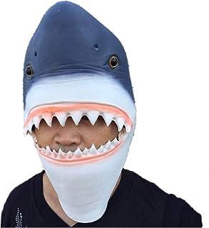 アニマルマスク サメ鮫 海洋動物 生物 魚類 マスク パーティーマスク 衣装 雑貨 コスプレグッズ 被り物 忘年会 パーティー グッズ 変装用マスク コスチューム用小物 デラックスな ラテックス マスク (古いサメ)